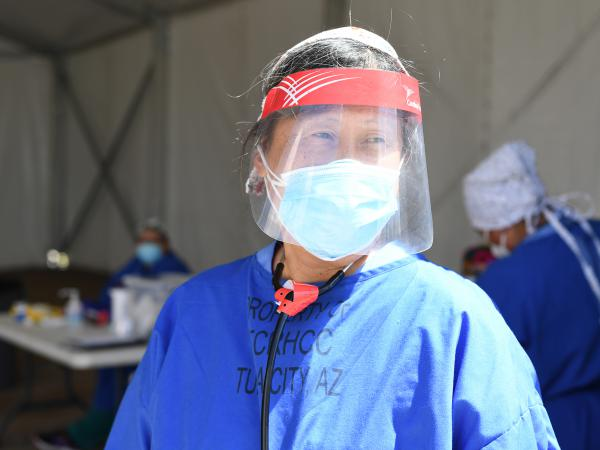 Diana Hu is a pediatrician at Tuba City Regional Health Care Corporation and a member of the Navajo epidemiology response team.