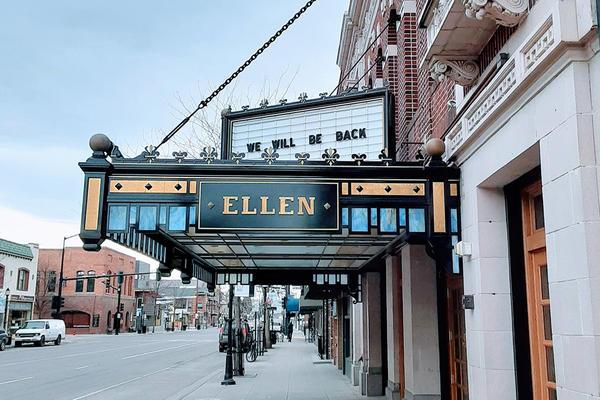 The Ellen Theater in Bozeman, Montana, March 30, 2020.