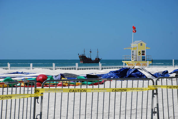 Clearwater Beach, and other Pinellas County beaches, have been closed since March 20.