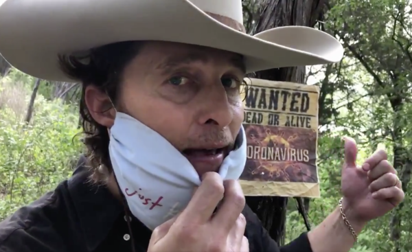 Matthew McConaughey as Bobby Bandito in one of his social media posts about personal health and safety during the pandemic.
