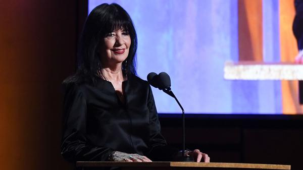 Joy Harjo — seen here at a Hollywood gala in 2019 — has been appointed to a second term as U.S. Poet Laureate.