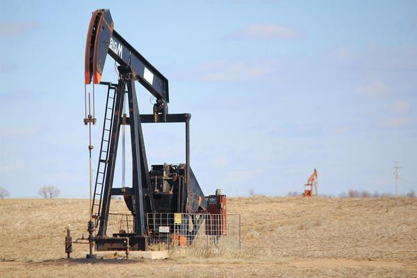An oil pump jack in Kansas