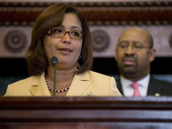 Philadelphia City Councilwoman Maria Quinones-Sanchez pushed for the city to change its practice of detaining immigrants on behalf of federal officials.