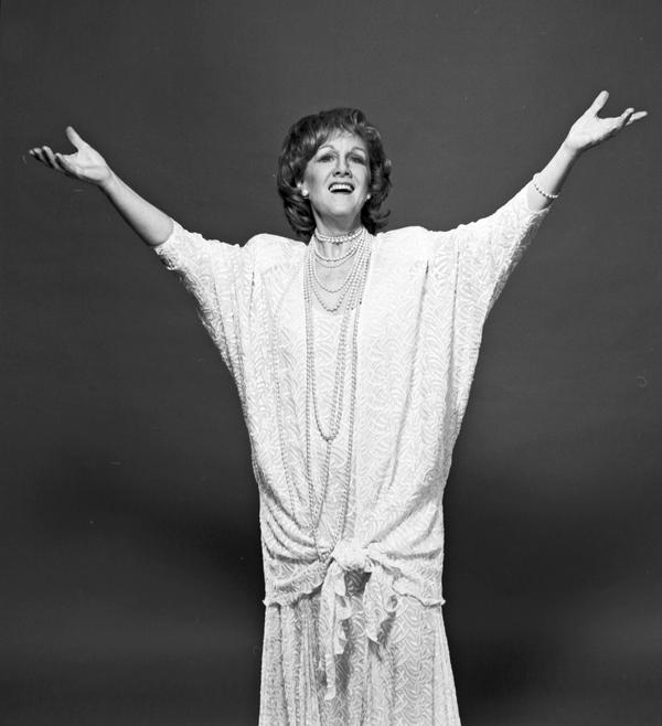 "Soprano Marni Nixon, shown above in June 1988, was dubbed ""The Ghostess with the Mostest"" in<em> Time</em> magazine. ""Bad rhyme, but that sort of stuck,"" she said."