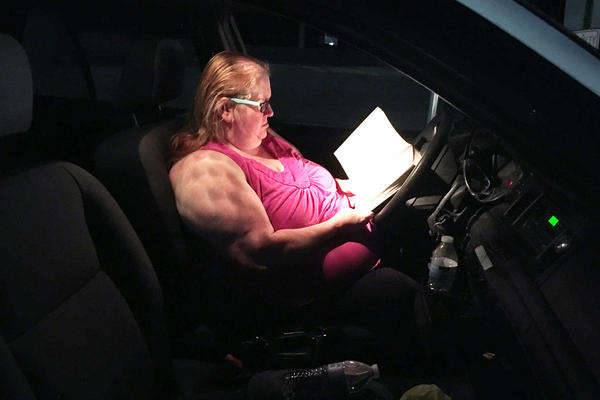 Sabra Howard slept part of the night in her car and passed the rest of the time by reading a Bible study book.