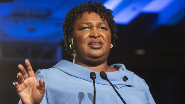 In mentioning voting in her Democratic response to the State of the Union, Stacey Abrams (pictured on election night in 2018) voiced what was already becoming increasingly clear: Elections will be a key part of Democratic messaging in the coming years.