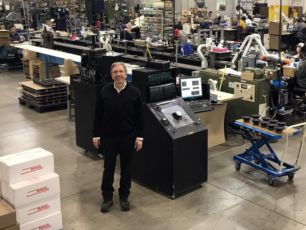 Dan Digre, who owns a Minnesota factory, Misco, that makes speakers, says tariffs are hurting his ability to compete.