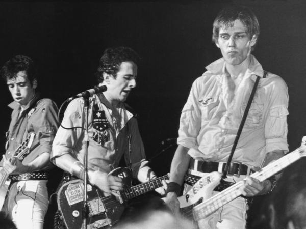 From left to right, Mick Jones, Joe Strummer and Paul Simonon of The Clash, circa 1980. The band's classic album <em>London Calling</em> was released in the United States 40 years ago this month.