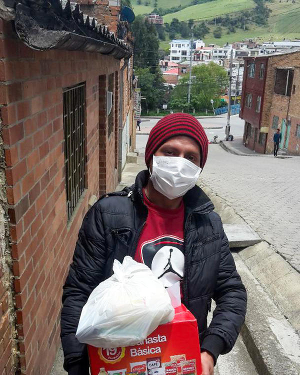 Álvaro Callama is an electrician from Venezuela who fled to Colombia two years ago. He says immigrants in the country are struggling after the authorities passed measures to prevent the spread of the new coronavirus.
