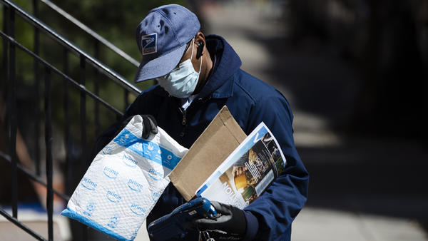 Because of the coronavirus, mail volume is down, and the U.S. Postal Service says it may run out of money by this summer.