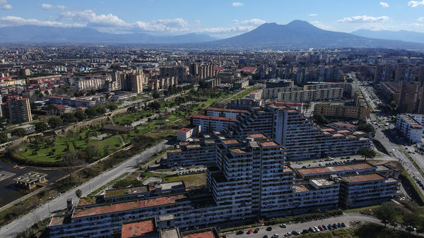 A view of the Neapolitan suburb of Scampia, notorious for drug wars and battles between rival Camorra mafia factions.