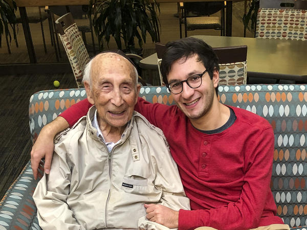 Sol Gringlas and his grandson, Sam, a producer for <em>All Things Considered</em>.