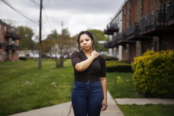 """Alexis Jones committed to going to Cornell University in the fall. """"I don't know how to feel,"""" she says, """"because I don't know if I'm going immediately in the fall with this pandemic and everything."""""""
