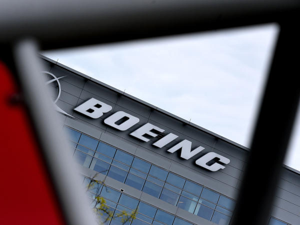 The Boeing headquarters is seen amid the coronavirus pandemic on April 29, in Arlington, Va. Boeing announced sweeping cost-cutting measures Wednesday after reporting a first-quarter loss of $641 million following the hit to the airline business from the coronavirus pandemic.