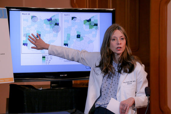 Ohio Department of Health director Amy Acton at a press conference on April 7, 2020.