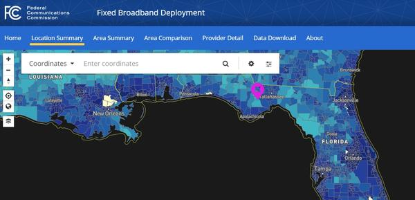 The FCC maps which areas of the county are covered via broadband. But state Reps. Loranne Ausley and Brad Drake say the map is misleading