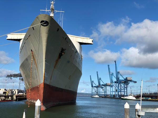 File photo. At Washington's Port of Tacoma, like in Seattle and other U.S. ports, exports are moving more slowly due to coronavirus supply chain disruptions.
