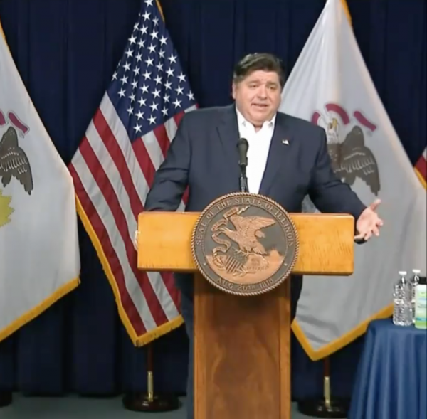 Gov. J.B. Pritzker delivers a daily briefing on the status of the new coronavirus in Illinois on May 4