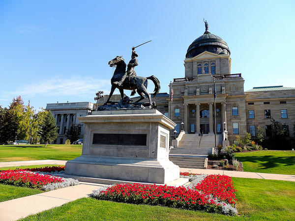 The Montana capitol building in Helena.