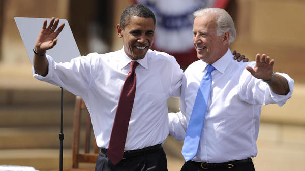 Presumptive Democratic presidential nominee Joe Biden, seen being introduced as Barack Obama's running mate in 2008, has the unique perspective of choosing a vice presidential candidate having served in the job himself.