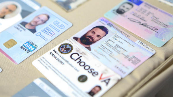 This photograph released by the Venezuelan government purports to show the ID cards confiscated from Airan Berry and Luke Denman in Caracas. The former U.S. service members are now in detention after Venezuelan security forces stifled an ill-fated raid earlier this week.