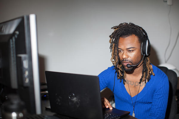 Malachi Stewart, with the Washington, D.C., health department, works full time as a contact tracer for the COVID-19 response. Washington plans to increase its contact tracing workforce in the near future.