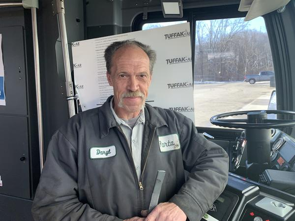 PARTA maintenance foreman Daryl Frazier developed a safety shield to protect the agency's drivers.