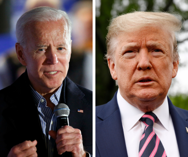 Former Vice President and presumptive Democratic presidential nominee Joe Biden and President Donald Trump.