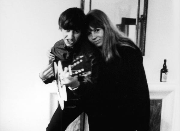 Ringo Starr and Astrid Kirchherr in an undated photo.