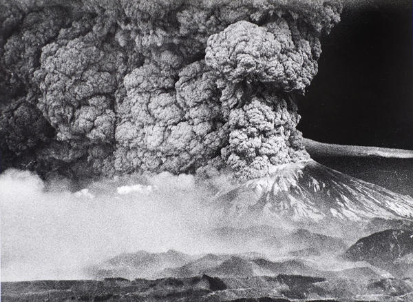 The 1980 eruption of Mount St. Helens sent a plume of ash that blotted out the sun in parts of Washington and North Idaho. The ash fell like snow, drifted as deep as two feet, and crushed crops, halted transportation and caused businesses to close.