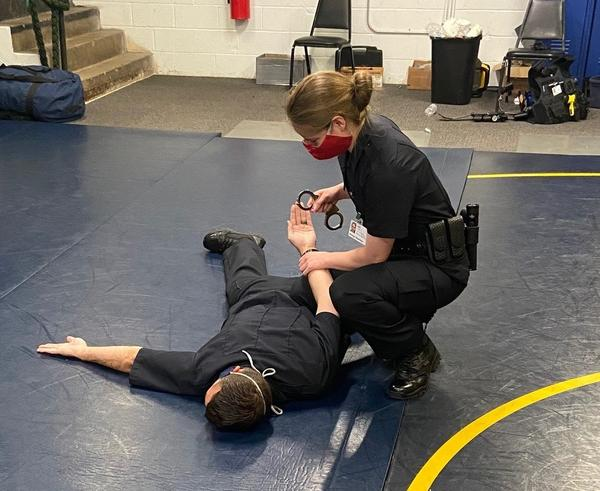 Akron police recruits undergo 24 weeks of intensive classroom and hands on training to become police officers.