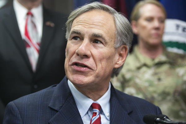 Texas Gov. Greg Abbott speaks from the State Operations Center on Feb. 27.
