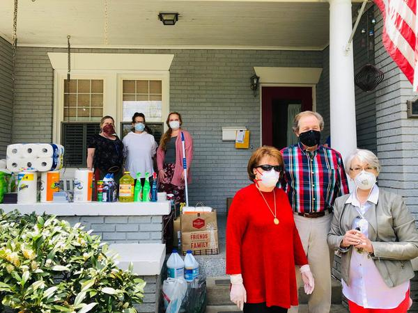 Volunteers drop off cleaning supplies and masks at the Rea of Hope in Charleston