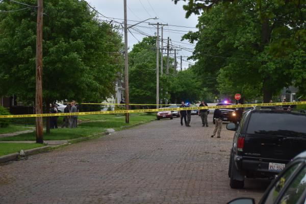 The scene in the 2300 block of N. Maryland in Peoria on May 20, 2020 after a child was shot in the chest.
