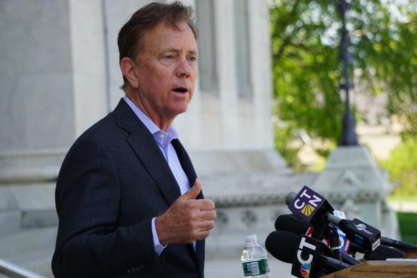 Gov. Ned Lamont announced the dissolution of the Partnership for Connecticut on Tuesday morning in a hastily arranged news conference at the Capitol.