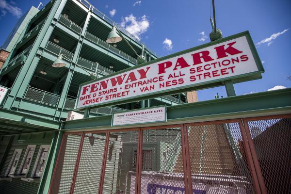 Fenway Park remains closed during the coronavirus pandemic. (Jesse Costa/WBUR)