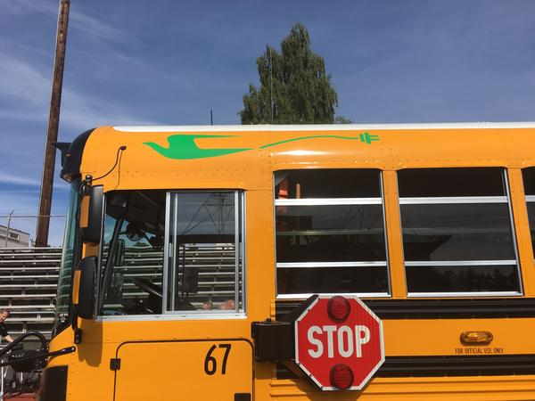 The first electric bus for a Washington school district went to the Franklin Pierce School District in Tacoma.