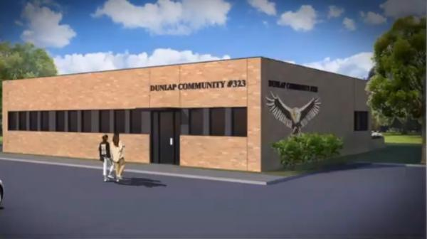 Rendering of the new Dunlap district office at Rt. 91 and Legion Hall Road.