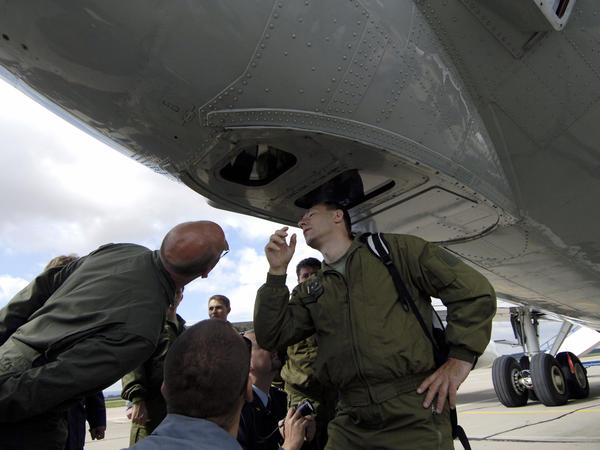 Open Skies would be the third major international military pact Trump has withdrawn the U.S. from. This photo from 2007 shows Czech soldiers inspecting cameras on a U.S. Boeing plane at a military airbase in Pardubice, Czech Republic, as part of the agreement.