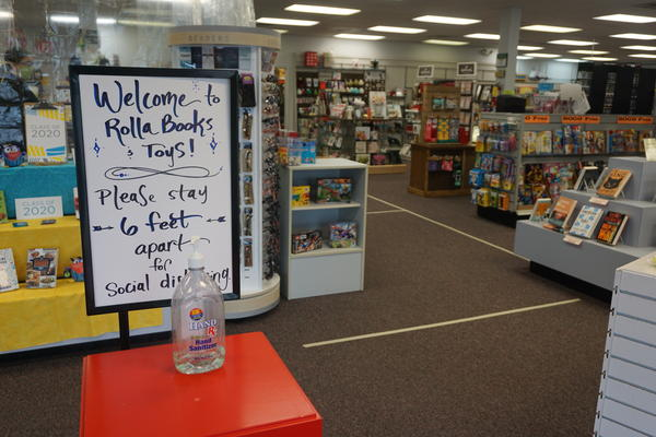 Rolla Books and Toys repopened under new rules from the city to help protect workers and customers from coronavirus.