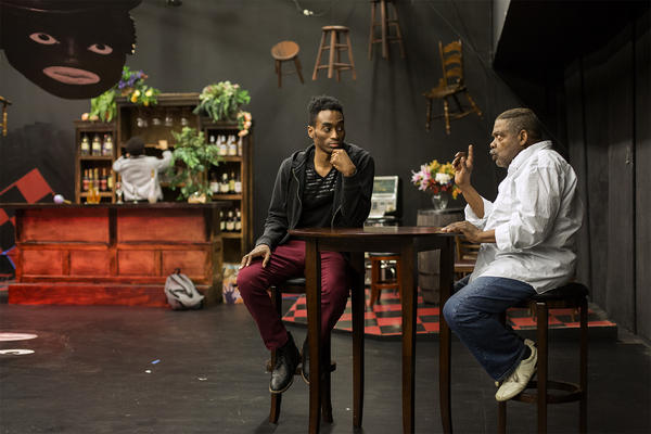 """The Black Rep canceled performances of """"Spell #7"""" due to the coronavirus. Ninety-two percent of local arts groups canceled events. Brian McKinley and Drummond Crenshaw are seen here in rehearsal."""