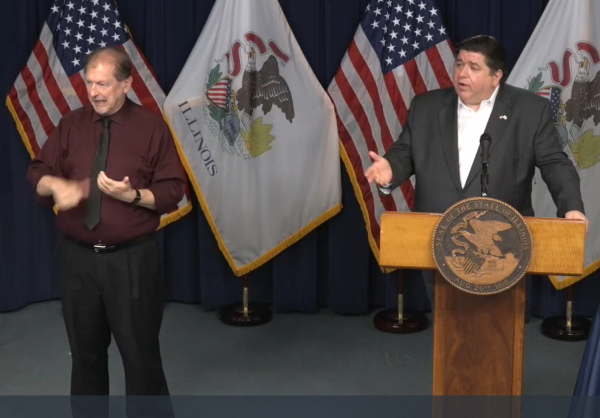 Gov. J.B. Pritzker gives his daily COVID-19 briefing.
