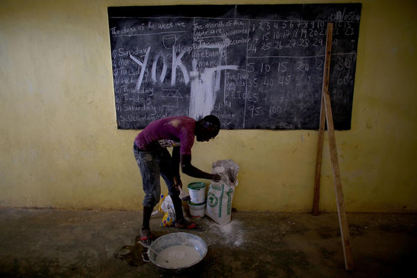 One village in the Port Loko district of Sierra Leone is turning a school into a community care center for isolating people with Ebola symptoms.