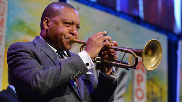 Wynton Marsalis onstage in New York in April 2016. His new violin concerto made its East Coast debut with the National Symphony Orchestra at the Kennedy Center last week.