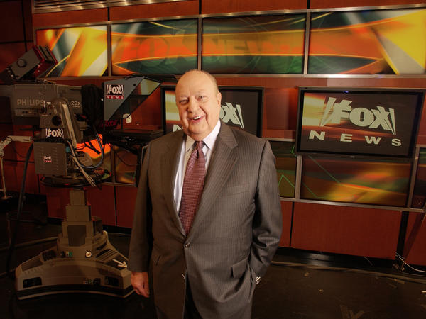 Then-Fox News CEO Roger Ailes poses at the network's New York City studios in 2006. Ailes served as CEO from Fox News' first day in 1996 until his resignation in July.