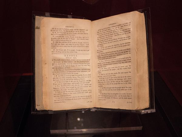 On display at Museum of the Bible in Washington, D.C., is a special exhibit centered on a rare Bible from the 1800s that was used by British missionaries to convert and educate slaves.