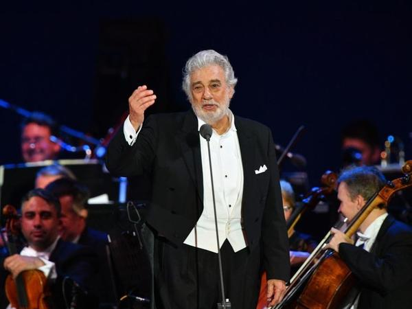 Opera star Plácido Domingo performing in Szeged, Hungary, on Aug. 28.