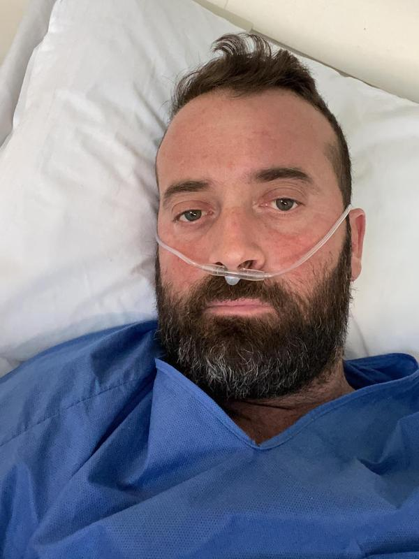 Fausto Russo, 38, has been in a hospital bed in Latina, Italy, for more than two weeks with COVID-19.