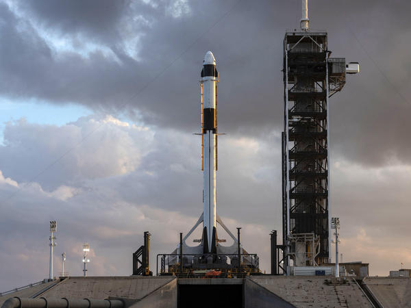 Two astronauts will launch to the International Space Station aboard a new capsule built by the company SpaceX.