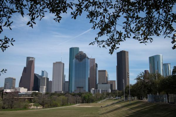 Downtown Houston, Texas in 2019.